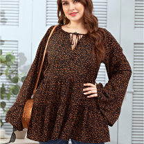 Women's large Summer 2020 Broken brown flowers Large XL, large XXL, large XXXL, large XXXL Dress commute easy other V-neck other 25-29 years old 81% (inclusive) - 90% (inclusive) Cotton 81% - 90%