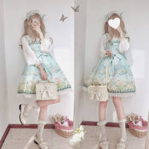Cosplay women's wear jacket goods in stock Over 14 years old Green suspender skirt (without accessories), pink suspender skirt (without accessories) comic Average size other Lolita K