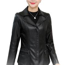 leather clothing Other / other Fall 2017 XL 95-100kg, 2XL 105-110kg, 3XL 115-125kg, 4XL 130-145kg, 5XL 145-150kg, 6xl 155-160kg, 7XL [160-170kg] routine Long sleeves Self cultivation commute Polo collar zipper routine W189888588WT PU Tie flowers 40-49 years old 96% and above Wash skin