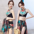 Split swimsuit Baiya Skirt split swimsuit With chest pad without steel support Spandex, polyester Z-668030 female M [80-95 Jin], l [95-105 Jin], XL [105-120 Jin]