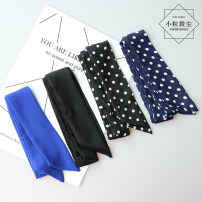 Bow tie Black, sapphire blue, white dot on black background, blue white dot Solid color Ordinary dress leisure time other Yarn dyed weaving blending Odysbon 571682095233_ Ybvks