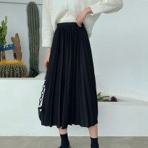 skirt Autumn 2020 Average size Apricot, black, brown Mid length dress Versatile High waist Pleated skirt Solid color Type A 25-29 years old 91% (inclusive) - 95% (inclusive) other Other / other other wave 101g / m ^ 2 (including) - 120g / m ^ 2 (including)