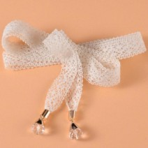 Belt / belt / chain cloth female belt Sweet Single loop bow soft surface Knitting, bows, lace Other / other