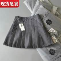 skirt Autumn 2020 1 (80-88 kg XS), 2 (90-98 kg s), 3 (100-108 kg m), 4 (110-118 kg L), 5 (120-128 kg XL) Short skirt commute High waist Pleated skirt Solid color Type A 81% (inclusive) - 90% (inclusive) Other / other polyester fiber Korean version