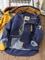 Plain coat Other / other male 110cm,120cm,150cm,160cm,130cm,140cm Yellow, blue winter leisure time Zipper shirt No detachable cap other Artificial colored cotton Class B