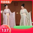 Hanfu 31% (inclusive) - 50% (inclusive) Spring 2021 Bihe light purple three piece set Bihe green three piece set S M L XL polyester fiber