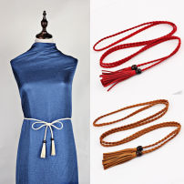 Belt / belt / chain other Black, camel, red, coffee, beige female belt leisure time Single loop other Other / other 155cm