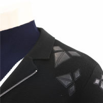 T-shirt / sweater Others Fashion City black 165,170,175,180,185,190 routine Cardigan V-neck Long sleeves FYXV3340 autumn Straight cylinder 2019 leisure time Business Casual routine Geometric pattern