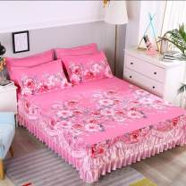 Bed skirt 150cmx200cm [bed skirt three piece set], 180cmx200cm [bed skirt three piece set], 200cmx220cm [bed skirt three piece set], single piece of the same quilt cover [200 * 230cm] polyester fiber Other / other Plants and flowers Qualified products TLYS0001
