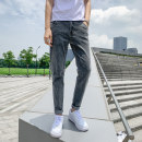 Jeans Youth fashion GXG JORGE 28,29,30,31,32,33,34 Thin money Micro bomb Thin denim T816 Ninth pants Travel? Other 100% summer teenagers middle-waisted Slim feet tide 2020 Little straight foot zipper Three dimensional tailoring cotton