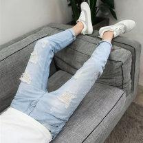 Jeans Youth fashion GXG JORGE 28,29,30,31,32,33,34 A861 blue, a860 dark blue, a860 light blue, 207 light blue, a813 light blue, a813 gray blue, a859 dark blue, 229 light blue, 229 dark blue, a859 light blue routine Micro bomb Regular denim A861# Ninth pants Travel? Four seasons teenagers Slim feet