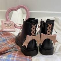 Boots 35,36,37,38,39,40 PU Other / other Middle heel (3-5cm) Flat heel PU Short tube Round head cotton PU Winter 2020 Side zipper Sweet rubber Solid color Fashion boots Adhesive shoes winter routine