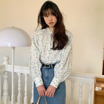 Square Dance Dress Average size Shirt, denim skirt s, Denim Skirt M, white shirt The other / others Long sleeves Broken flowers puff sleeve