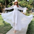 Dress Winter of 2019 White, red, green, gray, black, purple XXS is suitable for height above 150, 115cm long, height above XS 157, height above s 163, height above M 165 and height above L 168 Mid length dress singleton  Long sleeves Sweet Crew neck Loose waist Solid color Socket Princess Dress Other