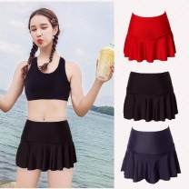 Split swimsuit Other / other a M,L,XL,XXL,XXXL,4XL Skirt split swimsuit With chest pad without steel support spandex D-225671 female Crew neck