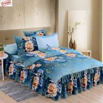 Bedding Set / four piece set / multi piece set cotton Quilting Plants and flowers 128x68 Other / other cotton 4 pieces 40 Bedspread type Qualified products Princess style 95% (inclusive) - 100% (exclusive) cotton Reactive Print