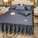 Bed skirt 150x200cm bed skirt, 180x200cm bed skirt, 180x220cm bed skirt, 200x220cm bed skirt, 150x200cm bed skirt + pillow case, 180x200cm bed skirt + pillow case, 180x220cm bed skirt + pillow case, 200x220cm bed skirt + pillow case cotton Nepenthes Solid color Qualified products wyc10221