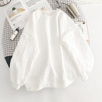 Sweater / sweater Spring 2021 white M,L,XL,XXL Long sleeves routine Socket singleton  routine Crew neck easy commute routine letter 18-24 years old 51% (inclusive) - 70% (inclusive) Korean version cotton WZR2021010692 cotton Cotton liner