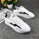 Low top shoes 38,39,40,41,42,43 Mesh Frenulum Round head Outdoor leisure shoes cloth The trend of youth Sports & Leisure Color matching Thick bottom summer rubber ventilation Adhesive shoes Youth (18-40 years old) Sewing Low heel (1-3cm) cloth Korean version Summer 2021
