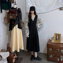 Outdoor casual clothes Tagkita / she and others female forty-nine point six zero Broken flower jacket single, single strap skirt, collection plus purchase priority delivery Under 50 yuan S,M,L,XL other Spring 2021 Long sleeves