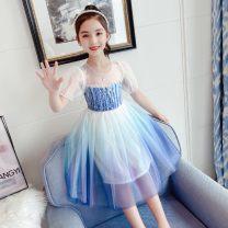 Dress Decor female Other / other 110cm,120cm,130cm,140cm,150cm,160cm Other 100% summer princess Short sleeve other cotton Princess Dress LLCB210003#02 Class B Chinese Mainland Zhejiang Province