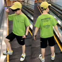 suit Pinbalabala 3419 + 1275 suit 170cm,160cm,150cm,140cm,130cm,120cm male summer motion Short sleeve + pants 2 pieces Thin money There are models in the real shooting Socket nothing cotton children YY20B1275B-a Class B Other 100% Chinese Mainland