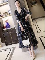 skirt Summer 2021 M,L,XL,2XL,3XL,4XL,5XL Decor Mid length dress commute High waist A-line skirt Decor Type A 30-34 years old WDHEW 91% (inclusive) - 95% (inclusive) Silk and satin VALVOELITE polyester fiber Button Ol style