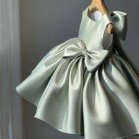 Dress / evening wear wedding 80cm 90cm 100cm 110cm 120cm 130cm 140cm 150cm Red pink green navy blue white picture light pink navy blue Korean version Spring 2021 Santa Fe Other 100%