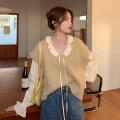 Vest Spring 2021 Khaki vest piece, shirt piece Average size routine V-neck commute Solid color 3434# other 18-24 years old hemp 80% - 89% grey duck down