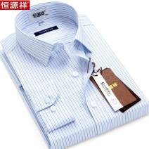 shirt Business gentleman hyz  43,40,44,42,39,41,165/88A,38 H77-12,H70-14,H70-12,H70-13,H74-13,H70-15,H77-11 routine square neck Long sleeves Self cultivation daily spring middle age Business Casual stripe Color woven fabric No iron treatment Button decoration