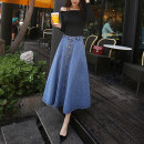 Yoga clothes S,M,L,XL Light blue, dark blue male Other / other Set (two piece set) children Mxj1005 denim A-line dress