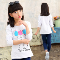 T-shirt Other / other 100cm,110cm,120cm,130cm,140cm,150cm,160cm female Long sleeves Artificial colored cotton other 3 months