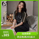 Nightdress Other / other 160(M),165(L),170(XL),175(XXL) Cartoon Short sleeve Leisure home longuette summer Cartoon animation youth Crew neck cotton printing More than 95% other