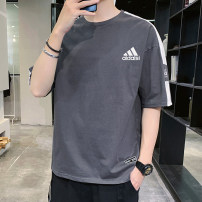 T-shirt Youth fashion routine M,L,XL,2XL,3XL,4XL Clover Short sleeve Crew neck standard daily summer Cotton 100% youth routine tide 2020 Geometric pattern printing cotton other No iron treatment International brands More than 95%