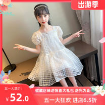 Dress milky white female Other / other Size 110 (recommended height 95-105), Size 120 (recommended height 105-115), Size 130 (recommended height 115-125), size 140 (recommended height 125-135), size 150 (recommended height 135-145), size 160 (recommended height 145-155) Other 100% summer princess