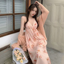 Fashion suit Summer 2021 S M L Pink cardigan pink dress pink cardigan + pink dress 18-25 years old Dream of Bobbie Other 100% Pure e-commerce (online only)