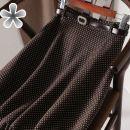 skirt Winter 2020 S,M,L,XL,2XL J46 Cady white spot {without belt} longuette Versatile A-line skirt Dot Type A Other / other