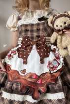 Cosplay women's wear Other women's wear Customized Over 14 years old One piece embroidery apron (subject to the real object), split embroidery apron (subject to the real object) Animation, original M Sand of time Lolita Gothic style See the details