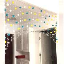 Bead curtain / hanging curtain White + Yellow + dark blue, white + Yellow + light blue, white + dark blue + light blue, white + Yellow + green, white + Red + pink, white + Yellow + orange, white + Yellow + pink, white + pink + light blue, you can choose your own color, please note Countryside Glass