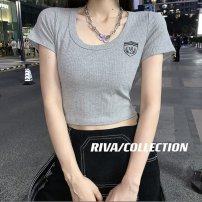 Women's large Spring 2016 Black, white, grey Elastic one size fits all Self cultivation Short sleeve cotton Other / other