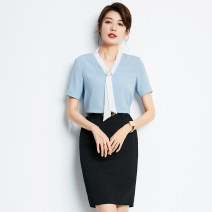 Professional dress suit XS S M L XL XXL XXXL 4XL Shirt skirt shirt + skirt dress shirt + dress Summer 2021 Short sleeve PC20060 Other styles of shirts Suit skirt 25-35 years old Peggy Polyester 95% polyurethane elastic fiber (spandex) 5% Pure e-commerce (online only) 91% (inclusive) - 95% (inclusive)