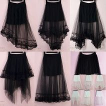 skirt Summer 2017 Average size 608 black, 608 white, 622 black, 622 white, 609 black, 609 white, 616 black, 616 white, 623 black, 623 white, 610 black, 610 white, 01 BLACK, 02 white, 02 black, 621 black, 621 white, 01 white longuette commute Irregular Solid color Type A 18-24 years old JMN-149 Lace