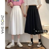 skirt Summer 2021 S M L XS White black Mid length dress commute High waist A-line skirt Solid color Type A 18-24 years old More than 95% other Zhesha other Korean version Other 100% Pure e-commerce (online only) 61G / m ^ 2 (including) - 80g / m ^ 2 (including)