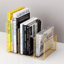desktop bookshelf Simplicity magazine Storage rack originality modern bookends office Storage Finishing rack On the table Small bookshelf