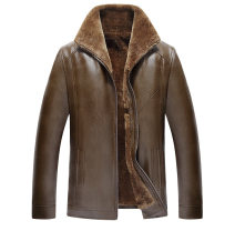 leather clothing Others other Fur zipper 02 black, fur zipper 02 brown, fur zipper black 58,56,54,52,60,62 routine Leather clothes Lazy shoes