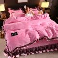 Bed skirt 1.2m bed quilt cover 1.5x2.0 three piece set, 1.5m bed quilt cover 2.0x2.3 four piece set, 1.8m bed quilt cover 2.0x2.3 four piece set, 2.0m bed quilt cover 2.0x2.3 four piece set, 2.2m bed quilt cover 2.2x2.4 four piece set polyester fiber Other / other Solid color Superior products