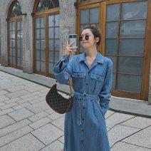 Parent child fashion Denim blue other female Other / other S,M,L,XL See description Solid color Denim XR19 / xz19136 Cotton 97.3% viscose 2.7% 12 months