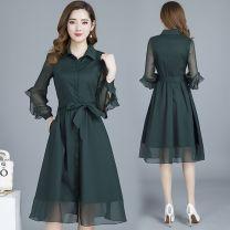 Dress Spring 2021 Green, black M,L,XL,2XL,3XL,4XL 30% and below
