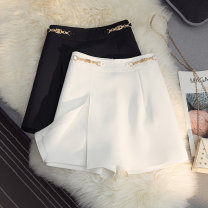 Casual pants White black S M L XL 2XL Summer 2021 shorts Wide leg pants High waist Versatile routine 25-29 years old 30% and below SHMO other zipper Other 100%
