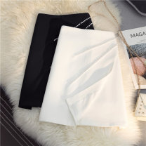 skirt Summer 2021 S M L XL White black Short skirt Versatile High waist A-line skirt Solid color Type A 25-29 years old More than 95% other SHMO other Nail bead Other 100% 121g / m ^ 2 (including) - 140g / m ^ 2 (including)